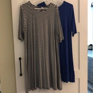 Two Old navy swing dresses XL
